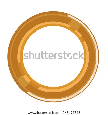 Golden Circular Bevel Frame to be used in any advertising design project or logo. Editable EPS10 vector and jpg illustration.