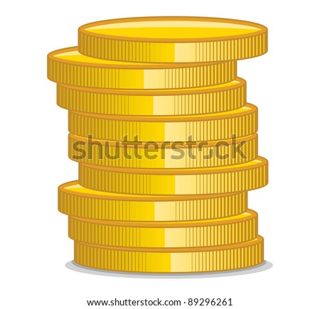 Golden coins - stock vector