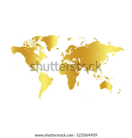Golden color world map on white stock vector 522064909 shutterstock golden color world map on white background globe design backdrop cartography element wallpaper gumiabroncs Gallery