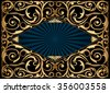 Golden decorative design - stock vector