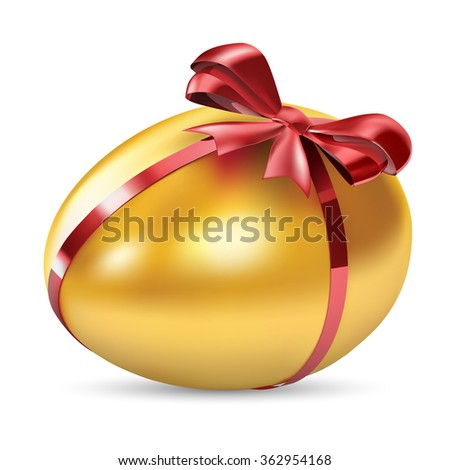 Golden Egg Vector - stock vector