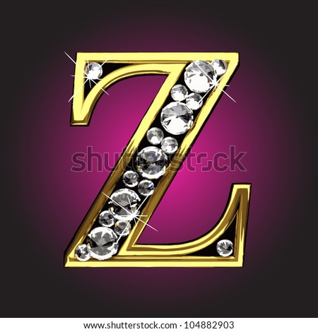 golden figure with diamonds made in vector
