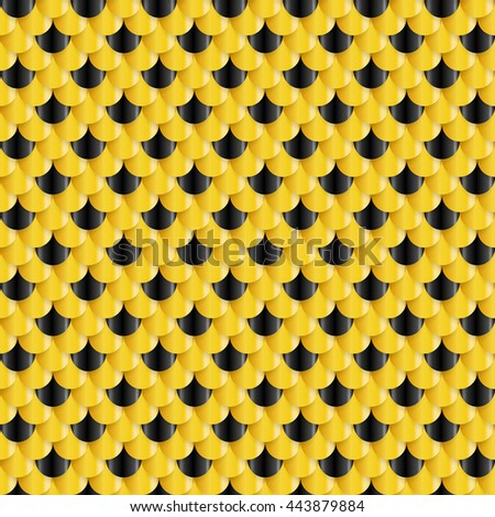 Golden Fish Scales seamless pattern - stock vector