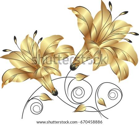 Golden Flower Bunch 670458886