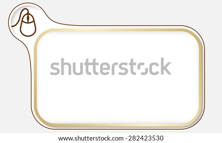 Golden frame for your text and mouse - stock vector