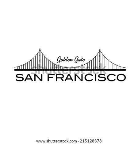 Golden Gate bridge of San Francisco - stock vector
