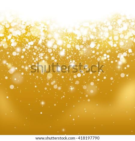 golden glittering background - stock vector