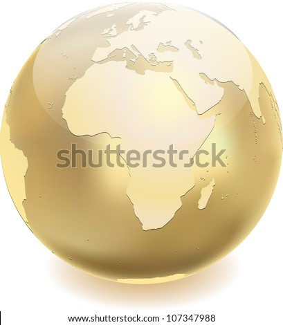 Golden globe - stock vector