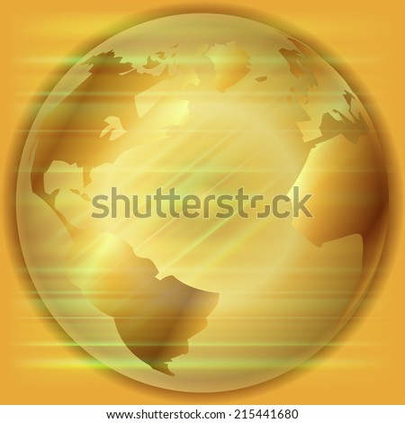 Golden Globe background  - stock vector