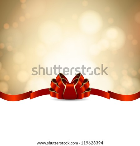 golden greeting card template - stock vector
