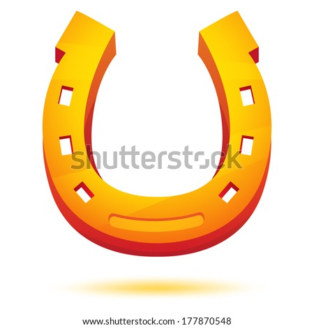 Golden Horseshoe Vector. - stock vector
