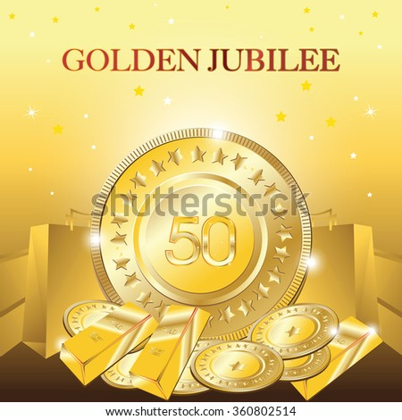 Golden jubilee stock images royalty free images vectors golden jubilee vector golden bars yadclub Image collections