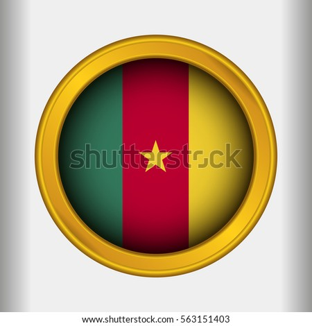 Golden label flag of cameroon