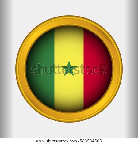 Golden label flag of senegal