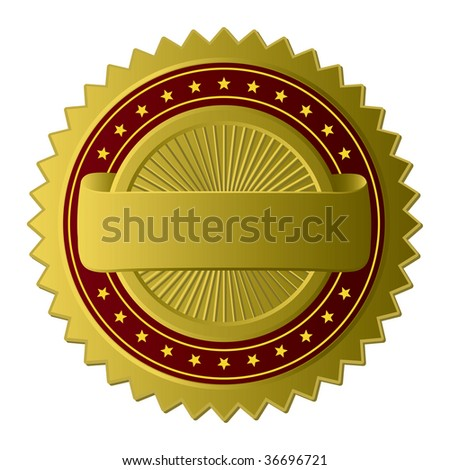Golden Label (see more in my gallery) (vector). In the gallery also available XXL jpeg version of this image. - stock vector
