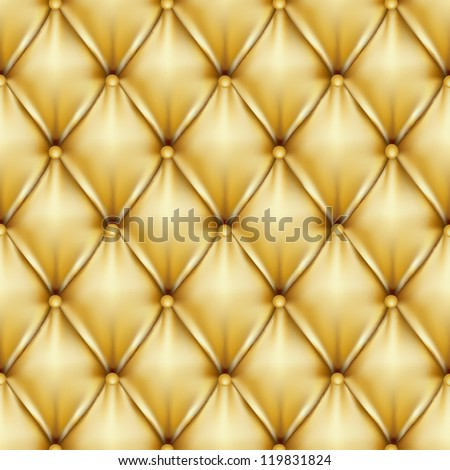 Golden leather upholstery , vector illustration - stock vector