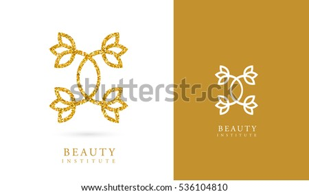GOLDEN LOTUS FLOWER VECTOR LOGO / ICON