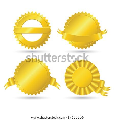 Golden medallions - stock vector