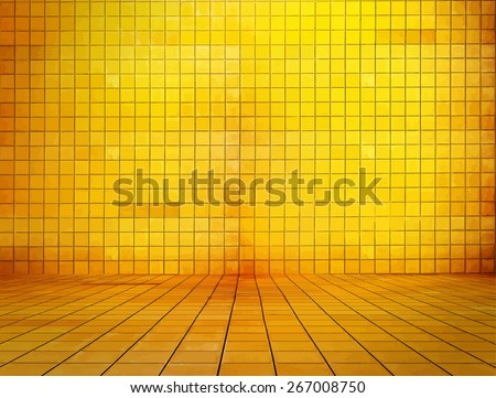 golden mosaic room, gold background, vector