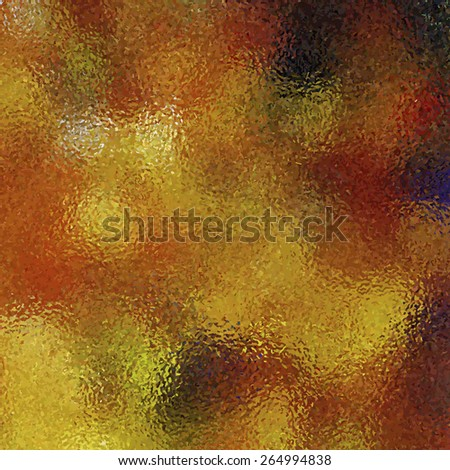 Golden orange yellow blurred abstract bright background - stock vector