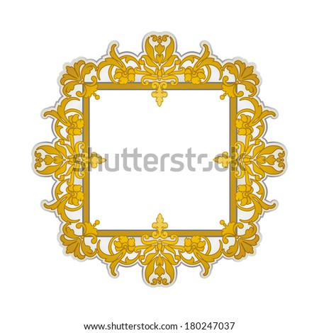 Golden oriental style frame (Persian, Arabian, Gypsy or Indian)