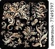 Golden ornament vector design elements - stock vector
