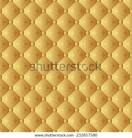golden pattern seamless or wallpaper - stock vector