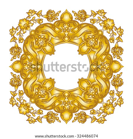 Golden Persian frame