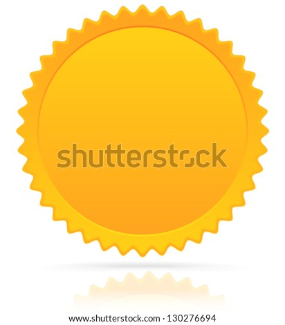 Golden Pledge W/ Reflection and Shadow (eps10) - stock vector