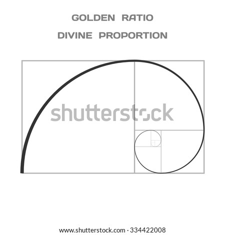 Golden Ratio. Divine Proportion. Ideal Section. Vector. - stock vector