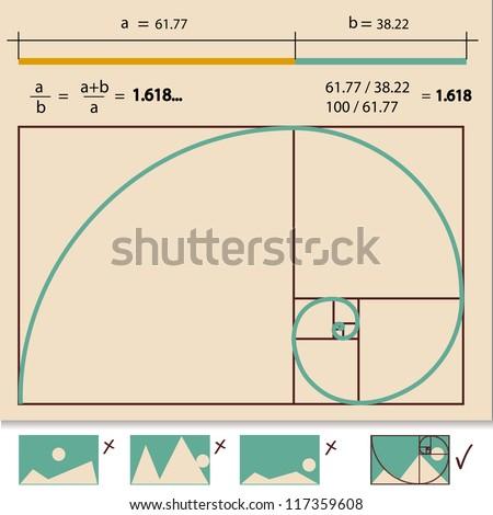 Golden Ratio,Golden Proportion vector illustration - stock vector