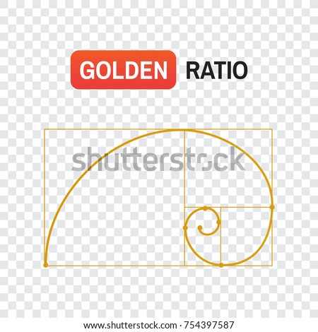 golden ratio spiral. Symbol of the golden ratio tattoo