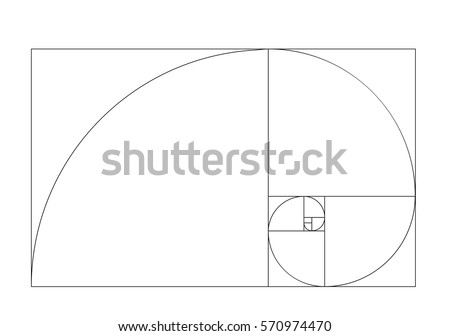 golden ratio template vector stock vector 570974470 shutterstock rh shutterstock com golden ratio logo vector golden ratio spiral vector