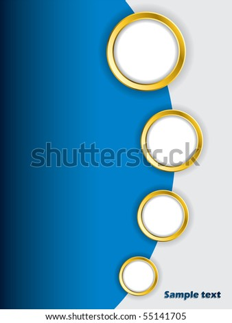 Golden rings brochure design - stock vector