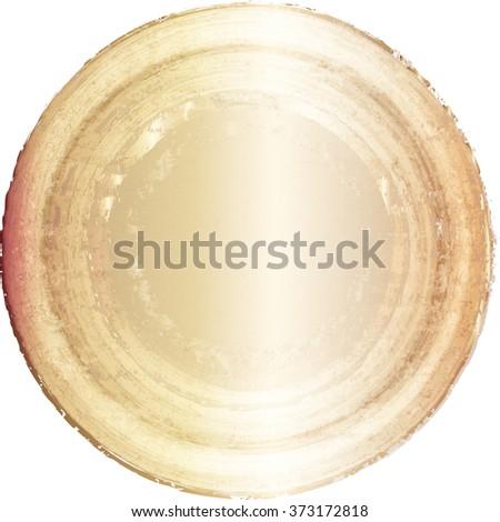Golden Seal . Vector  - stock vector