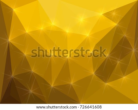 golden shining background made from polygons