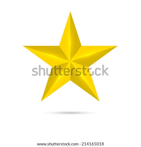 Golden shiny, glossy star. Symbol awards, winning, encourage. mark the best. rank