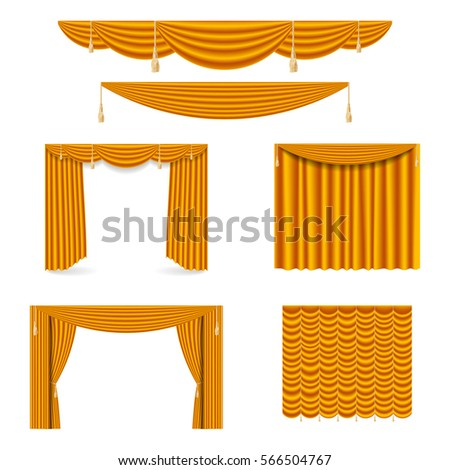 Gold Curtain Stock Images Royalty Free Images Vectors