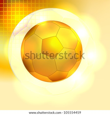 Golden soccer ball background