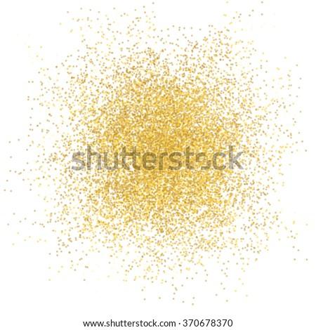 Golden spray background on white illustration vector - stock vector