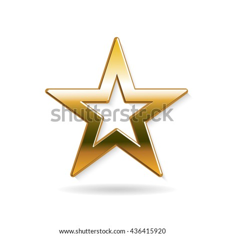 Golden Star logo. Vector graphic design