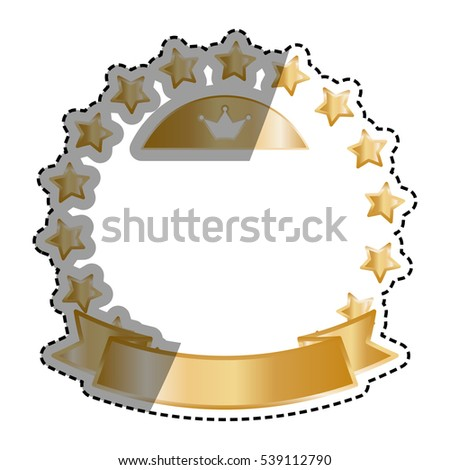 Golden stars in circle icon vector illustration graphic design