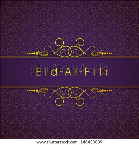 Cool Eid Mubarak Eid Al-Fitr Decorations - stock-vector-golden-text-eid-al-fitr-eid-mubarak-text-on-floral-decorated-purple-background-for-muslim-148430009  Collection_201079 .jpg