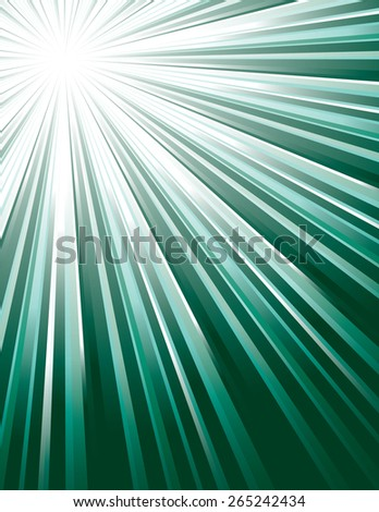 Golden Vector Rays. Abstract Modern Background. - stock vector