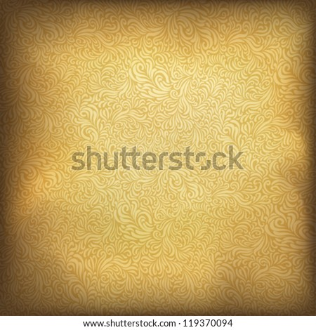 Golden vintage background. Vector illustration, EPS10. - stock vector