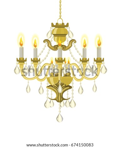 Chandelier vector stock images royalty free images vectors golden vintage chandelier vector chandelier chandelier with candles vector illustration aloadofball Gallery