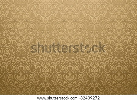 golden wallpaper design - stock vector