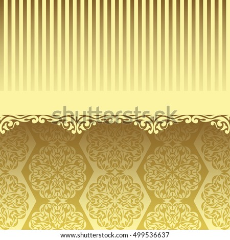 Golden wallpaper, original card in vintage design. Can be used for decoration