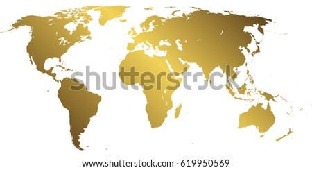 Golden world map on white background stock vector 619950569 golden world map on white background gumiabroncs Gallery