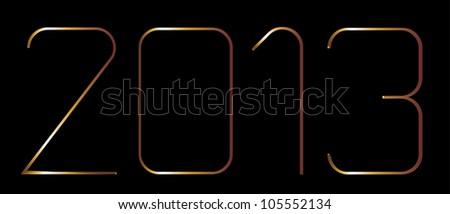 golden year 2013 - stock vector